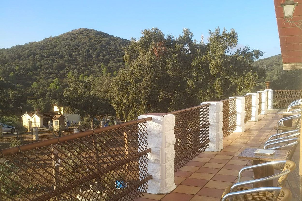 Views from the terrace of Andalusia house