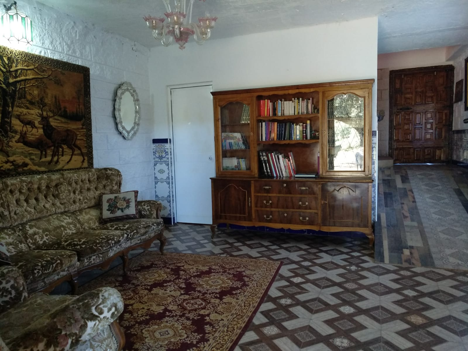 Living room in rural house in Córdoba, Spain