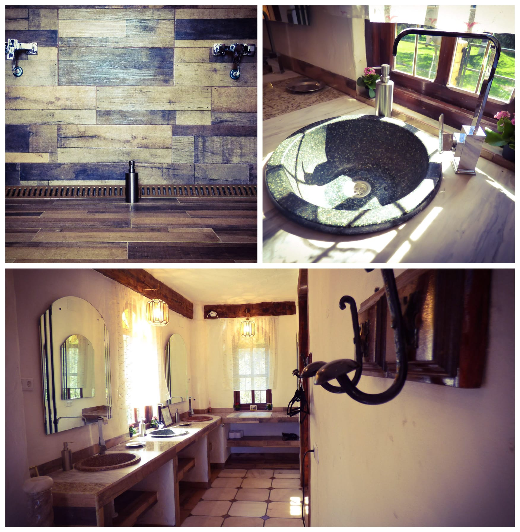 Rustic design bathroom Andalusia house.