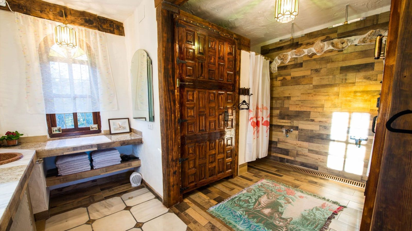 Rustic design bathroom in Andalusia house